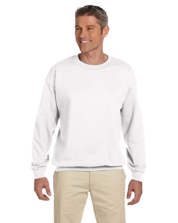 Gildan Adult Heavy Blend™ 50/50 Fleece Crew WHITE