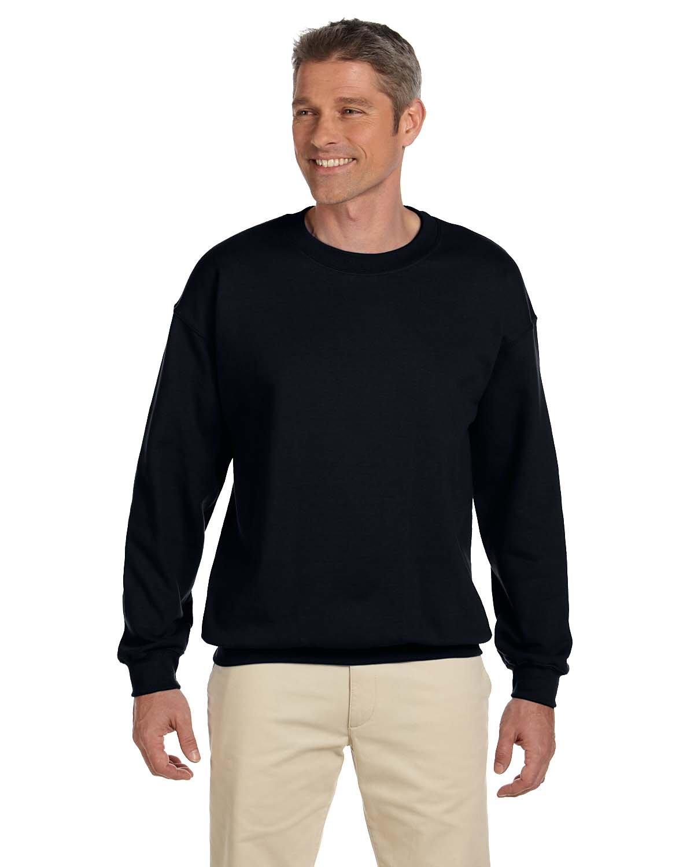 Gildan Adult Heavy Blend™  50/50 Fleece Crew BLACK
