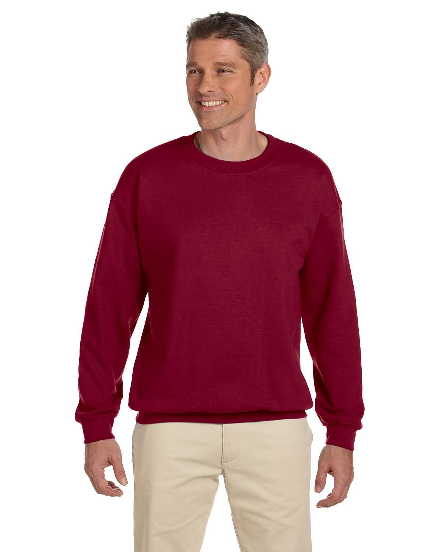 Gildan Adult Heavy Blend™  50/50 Fleece Crew ANTIQ CHERRY RED