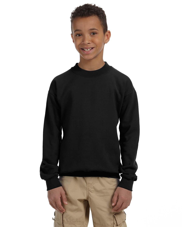 Gildan Youth Heavy Blend™ 50/50 Fleece Crew BLACK