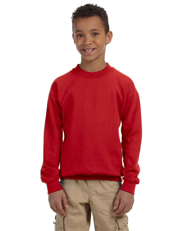 Gildan Youth Heavy Blend™ 50/50 Fleece Crew RED