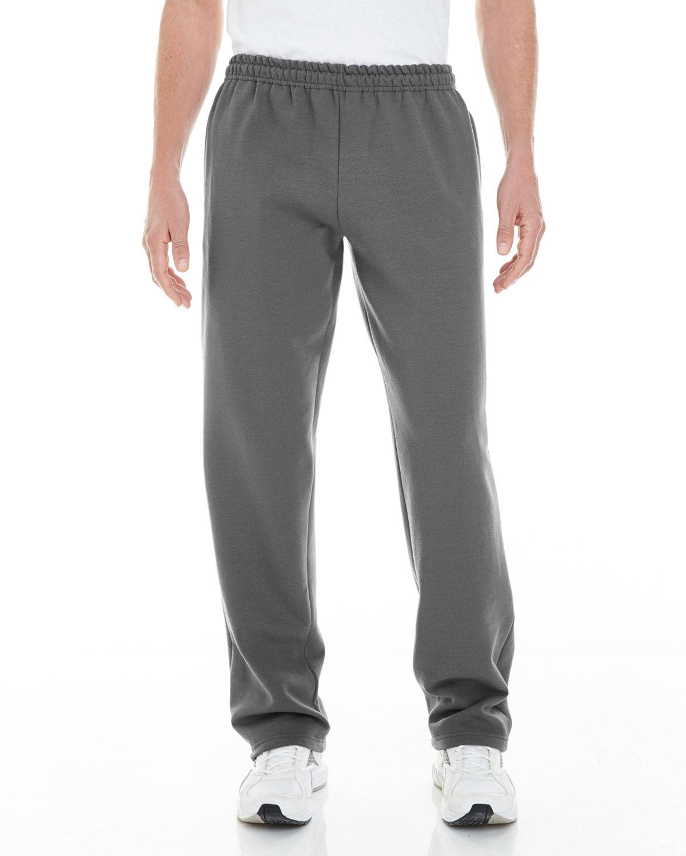 Gildan Adult Heavy Blend™ Adult 8 oz. Open-Bottom Sweatpants with Pockets CHARCOAL