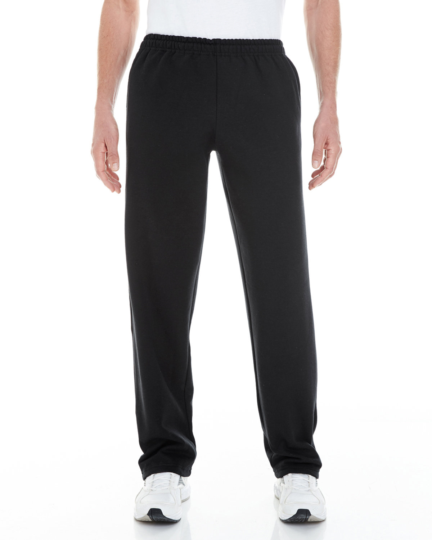 Gildan Adult Heavy Blend™ Adult 8 oz. Open-Bottom Sweatpants with Pockets BLACK