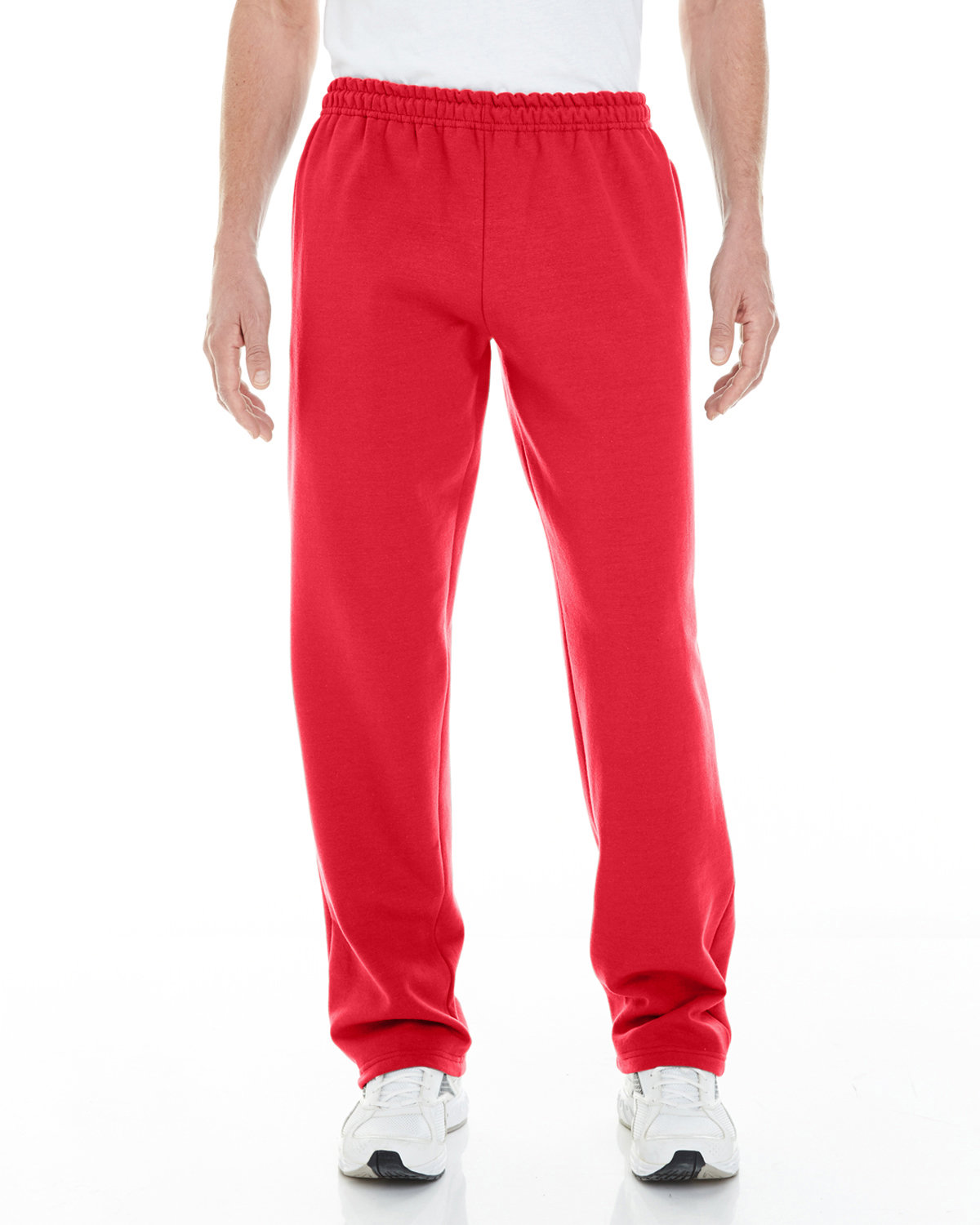 Gildan Adult Heavy Blend™ Adult 8 oz. Open-Bottom Sweatpants with Pockets RED