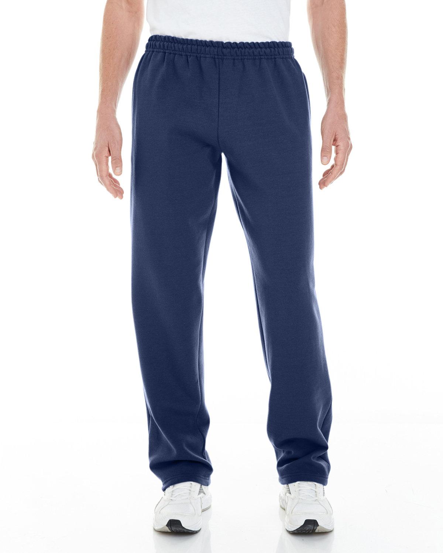Gildan Adult Heavy Blend™ Adult 8 oz. Open-Bottom Sweatpants with Pockets NAVY
