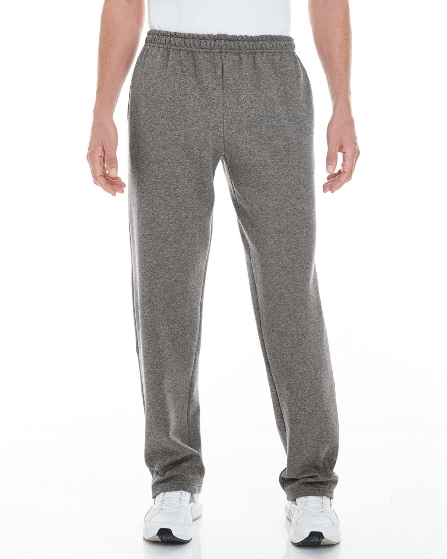 Gildan Adult Heavy Blend™ Adult 8 oz. Open-Bottom Sweatpants with Pockets GRAPHITE HEATHER