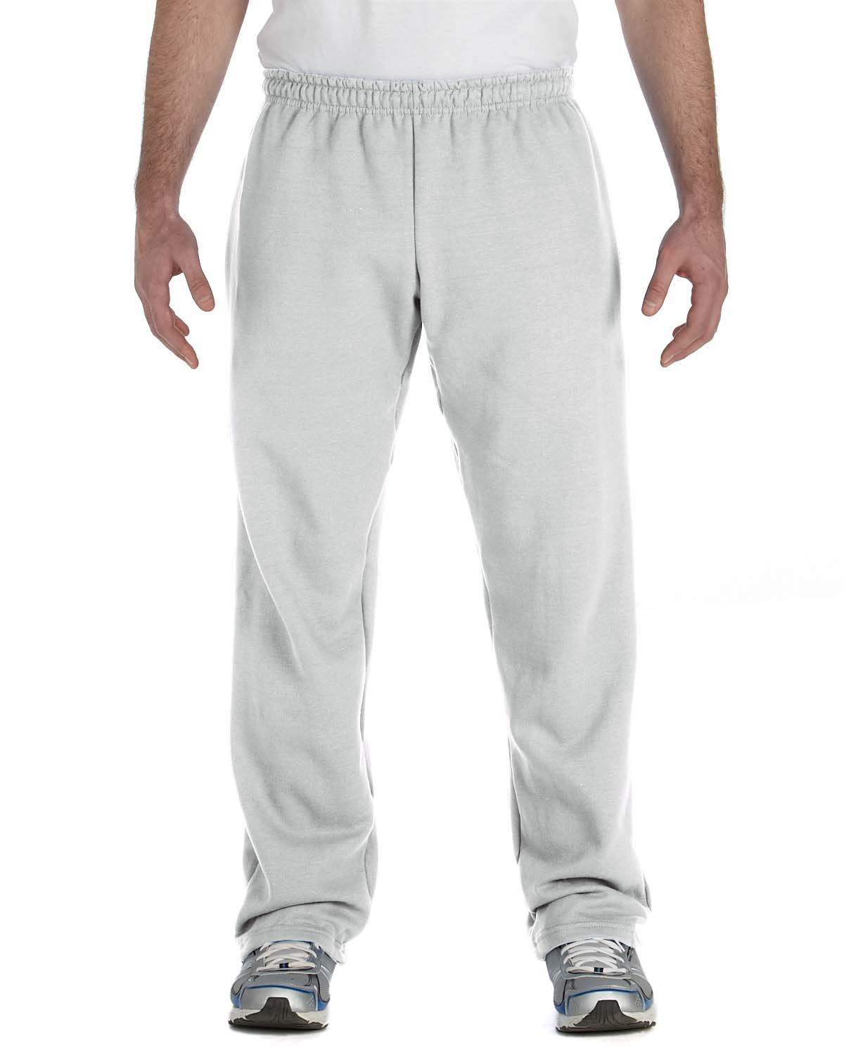 Gildan Adult Heavy Blend™ Adult 50/50 Open-Bottom Sweatpants ASH