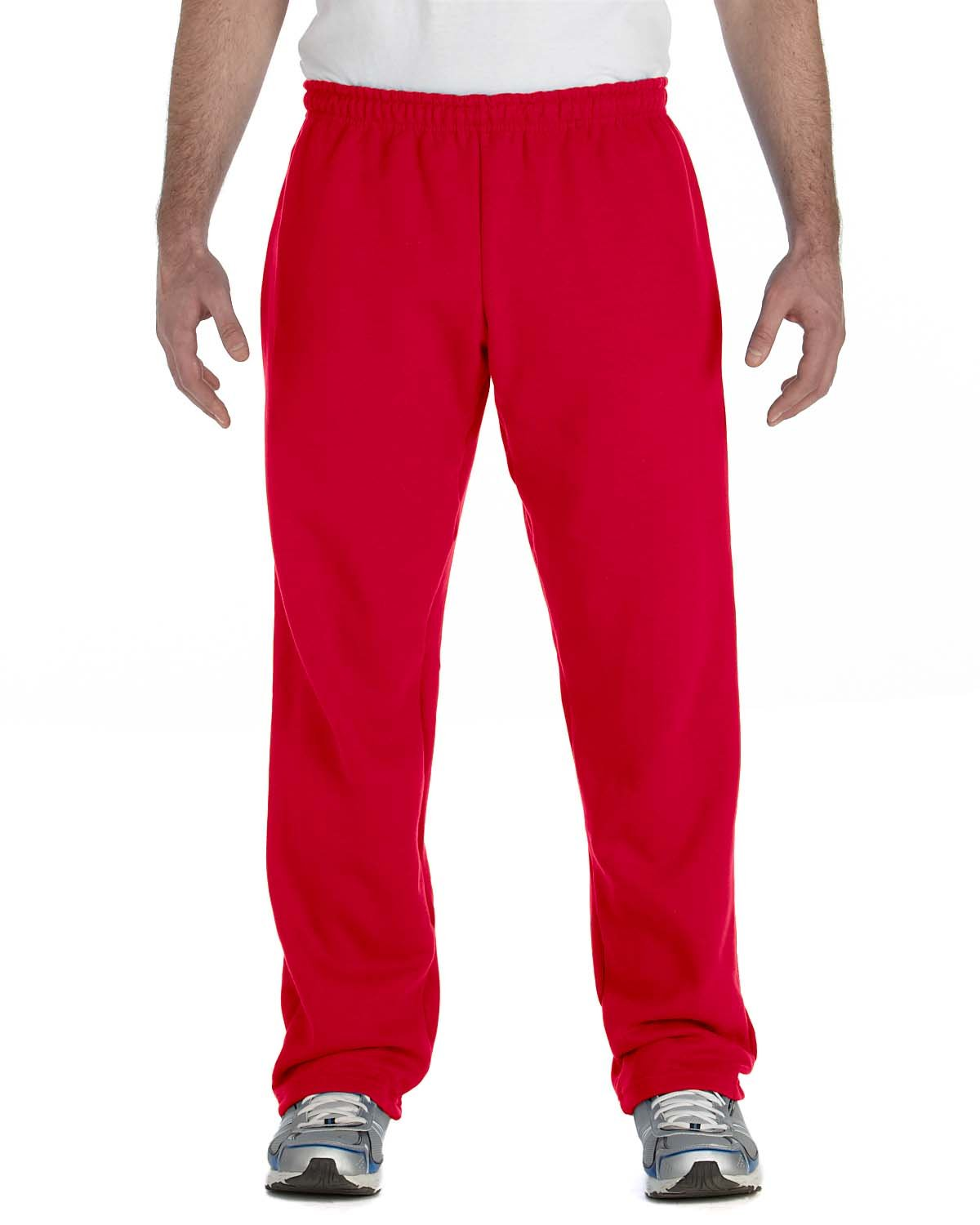 Gildan Adult Heavy Blend™ Adult 50/50 Open-Bottom Sweatpants RED