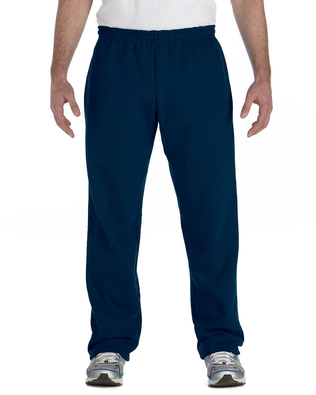 Gildan Adult Heavy Blend™ Adult 50/50 Open-Bottom Sweatpants NAVY