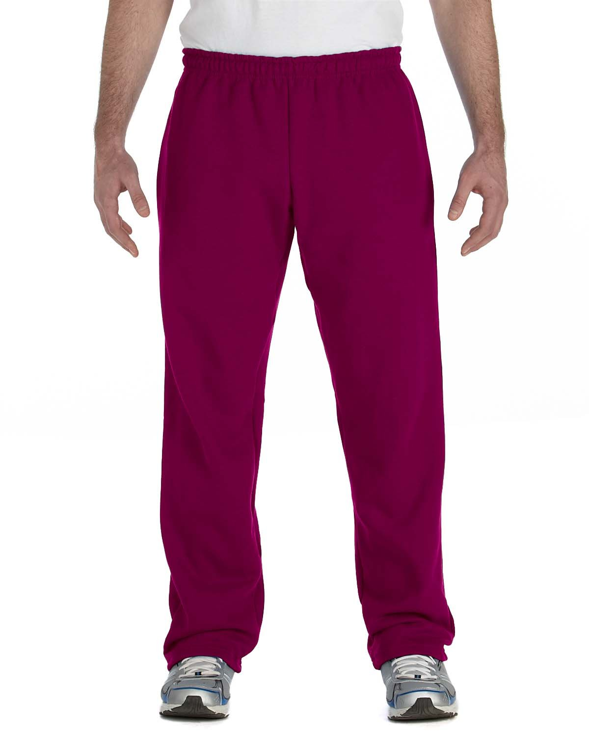 Gildan Adult Heavy Blend™ Adult 50/50 Open-Bottom Sweatpants MAROON