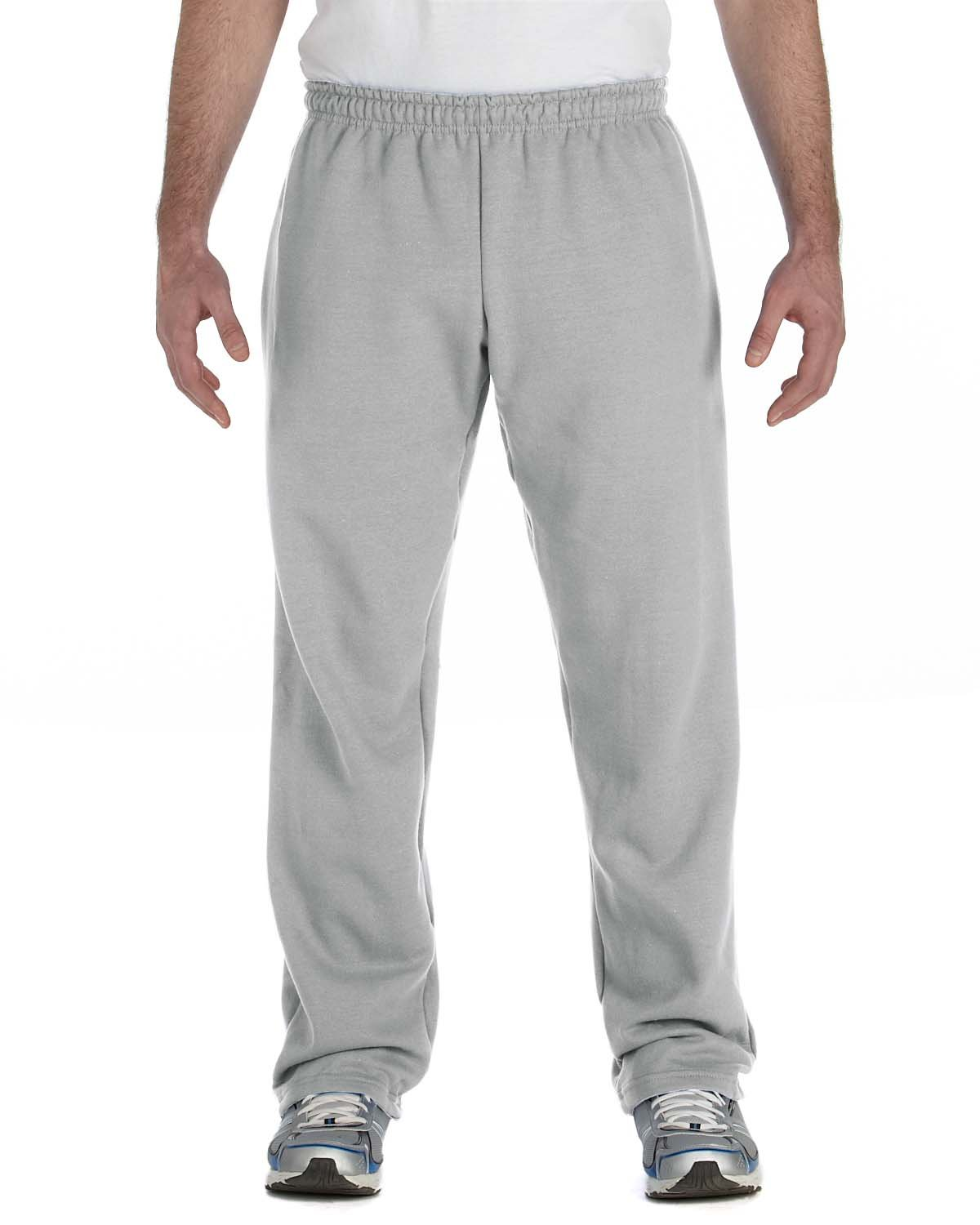 Gildan Adult Heavy Blend™ Adult 50/50 Open-Bottom Sweatpants SPORT GREY