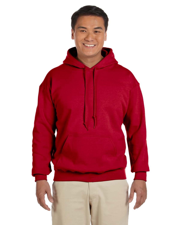 Gildan Adult Heavy Blend™ 50/50 Hooded Sweatshirt CHERRY RED