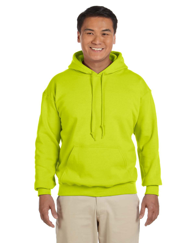 Gildan Adult Heavy Blend™ 50/50 Hooded Sweatshirt SAFETY GREEN