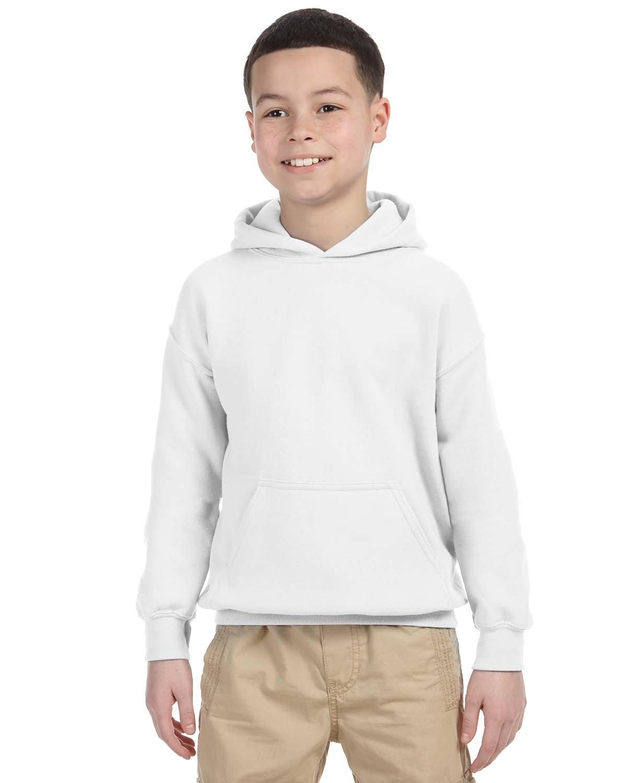 Gildan Youth Heavy Blend™ 50/50 Hooded Sweatshirt WHITE