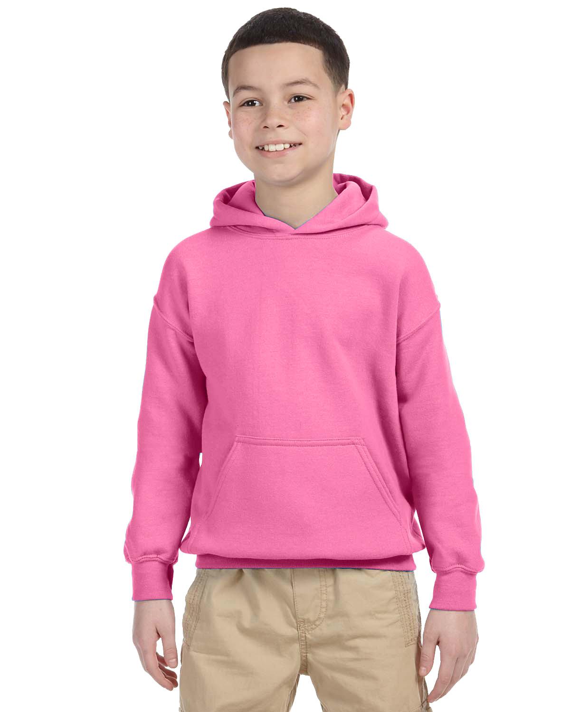 Gildan Youth Heavy Blend™ 50/50 Hooded Sweatshirt AZALEA