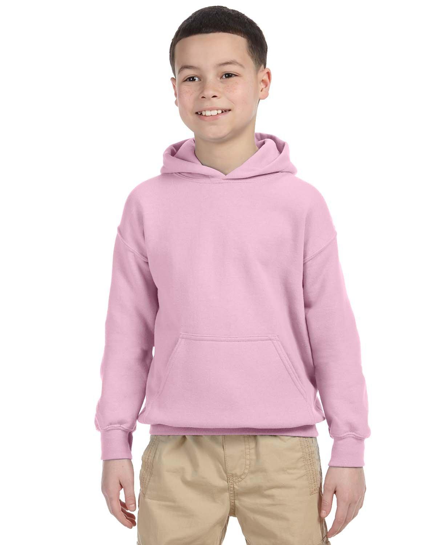 Gildan Youth Heavy Blend™ 50/50 Hooded Sweatshirt LIGHT PINK