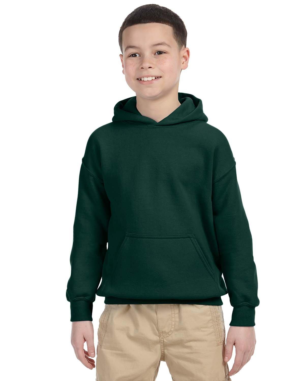 Gildan Youth Heavy Blend™ 50/50 Hooded Sweatshirt FOREST GREEN