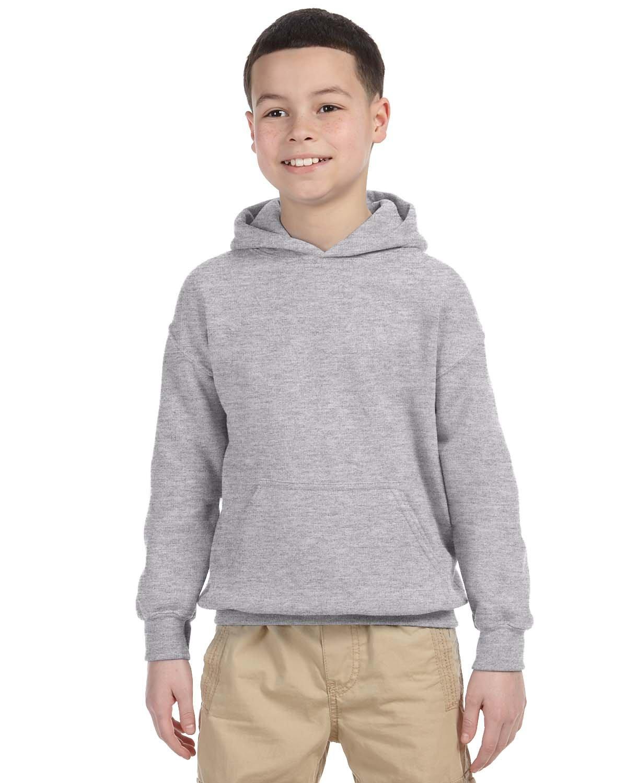Gildan Youth Heavy Blend™ 50/50 Hooded Sweatshirt SPORT GREY