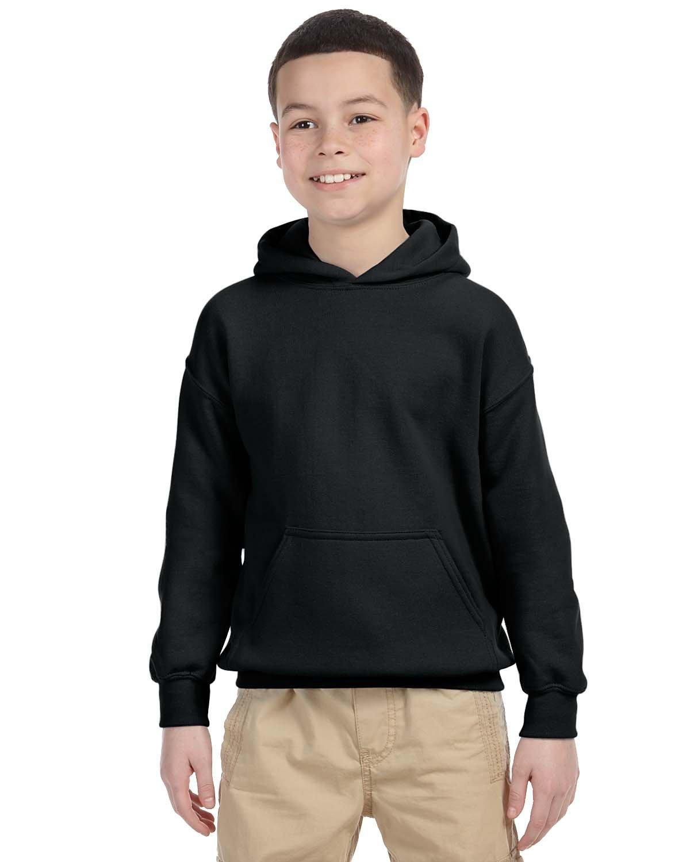 Gildan Youth Heavy Blend™ 50/50 Hooded Sweatshirt BLACK