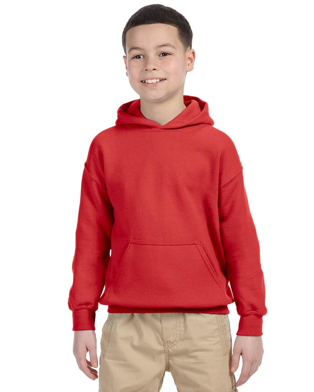 Gildan Youth Heavy Blend™ 50/50 Hooded Sweatshirt RED