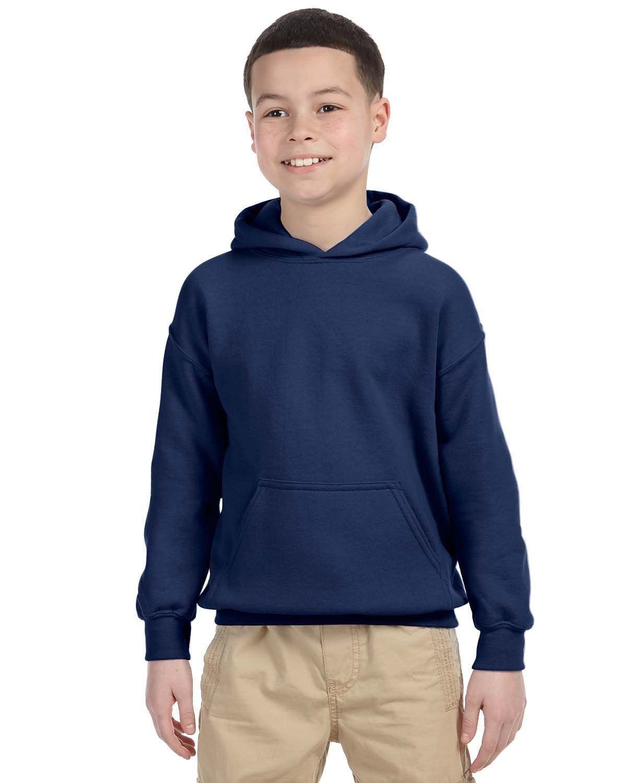 Gildan Youth Heavy Blend™ 50/50 Hooded Sweatshirt NAVY