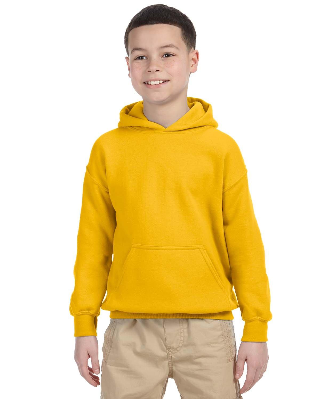 Gildan Youth Heavy Blend™ 50/50 Hooded Sweatshirt GOLD