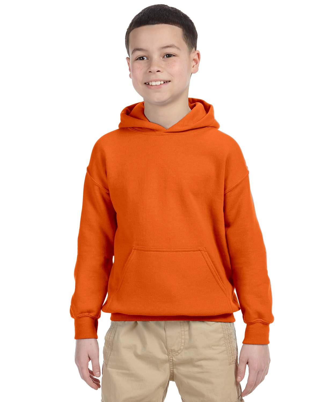 Gildan Youth Heavy Blend™ 50/50 Hooded Sweatshirt ORANGE