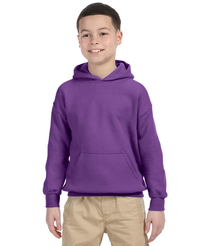 Gildan Youth Heavy Blend™ 50/50 Hooded Sweatshirt PURPLE