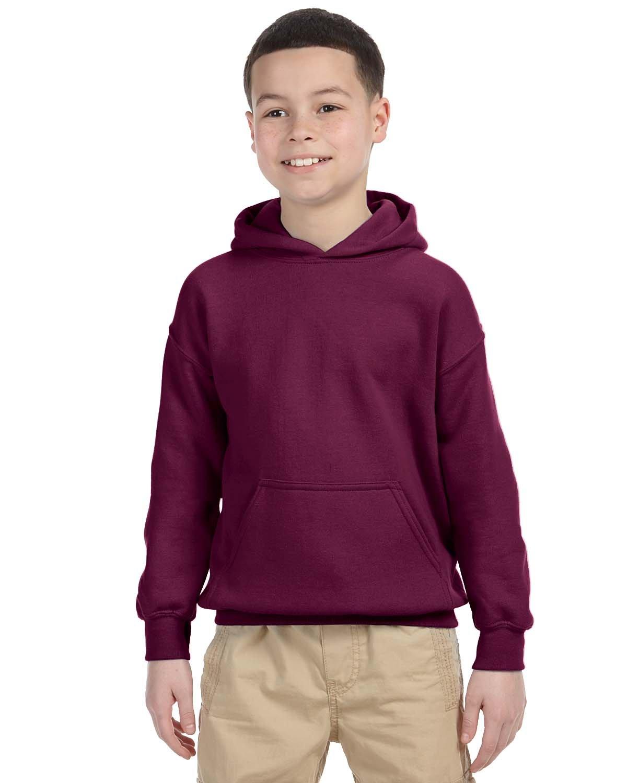 Gildan Youth Heavy Blend™ 50/50 Hooded Sweatshirt MAROON