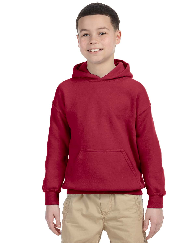 Gildan Youth Heavy Blend™ 50/50 Hooded Sweatshirt CARDINAL RED