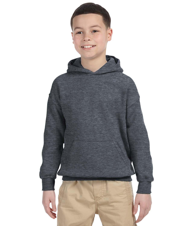 Gildan Youth Heavy Blend™ 50/50 Hooded Sweatshirt DARK HEATHER