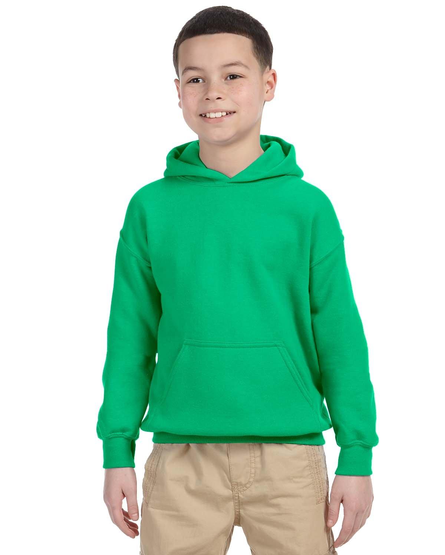 Gildan Youth Heavy Blend™ 50/50 Hooded Sweatshirt IRISH GREEN
