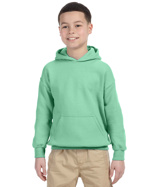 Gildan Youth Heavy Blend™ 50/50 Hooded Sweatshirt MINT GREEN