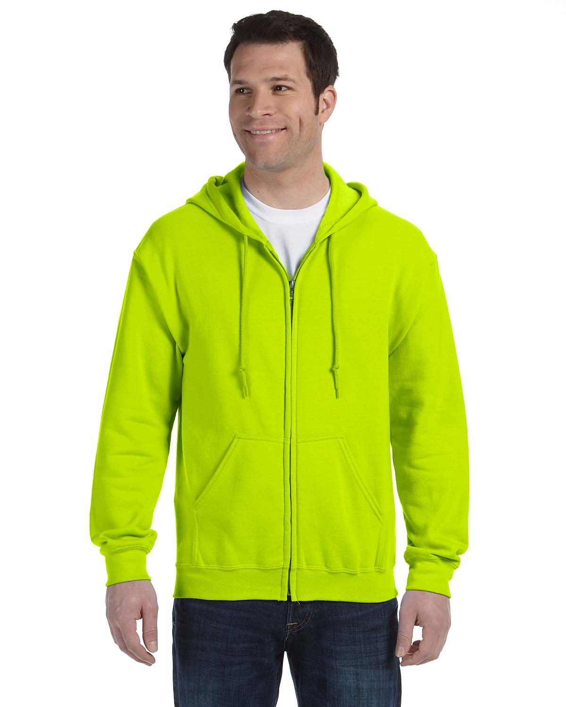 Gildan Adult Heavy Blend™ 50/50 Full-Zip Hooded Sweatshirt SAFETY GREEN