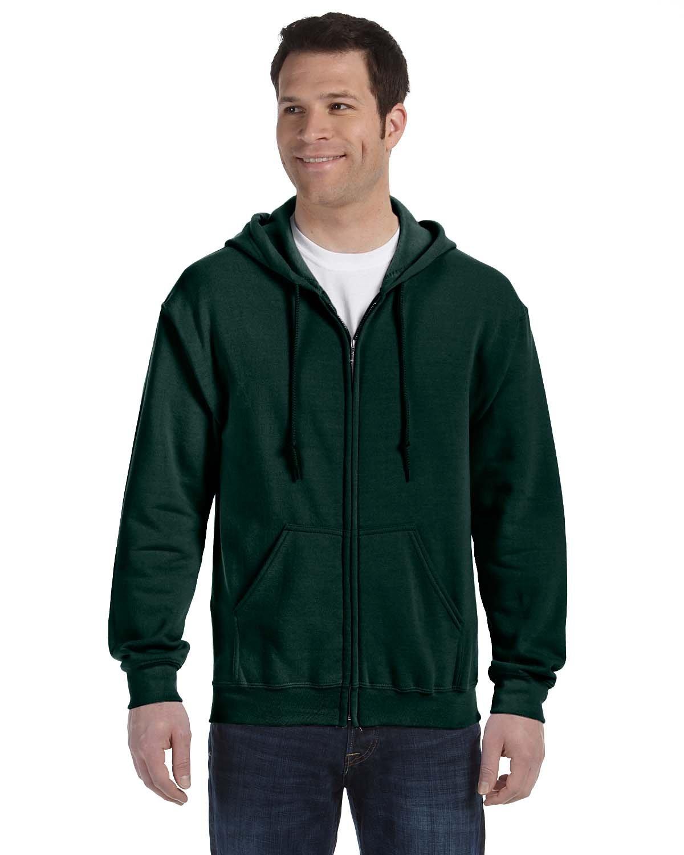 Gildan Adult Heavy Blend™ 50/50 Full-Zip Hooded Sweatshirt FOREST GREEN
