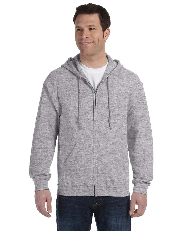 Gildan Adult Heavy Blend™ 50/50 Full-Zip Hooded Sweatshirt SPORT GREY