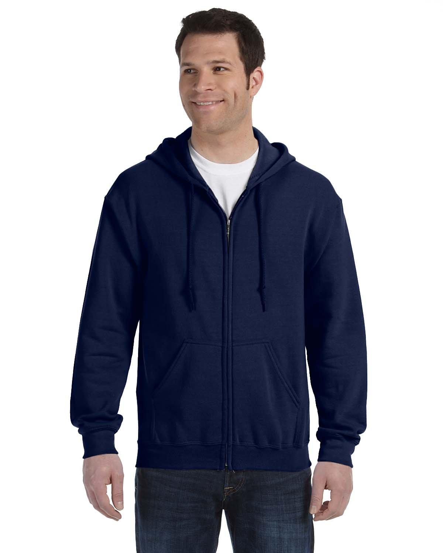 Gildan Adult Heavy Blend™ 50/50 Full-Zip Hooded Sweatshirt NAVY