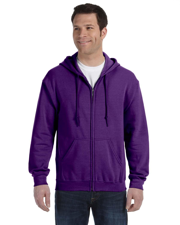 Gildan Adult Heavy Blend™ 50/50 Full-Zip Hooded Sweatshirt PURPLE
