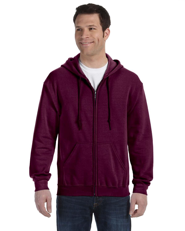 Gildan Adult Heavy Blend™ 50/50 Full-Zip Hooded Sweatshirt MAROON