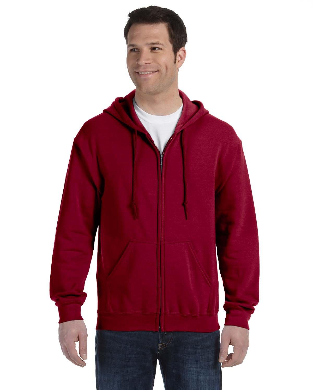 Gildan Adult Heavy Blend™ 50/50 Full-Zip Hooded Sweatshirt CARDINAL RED