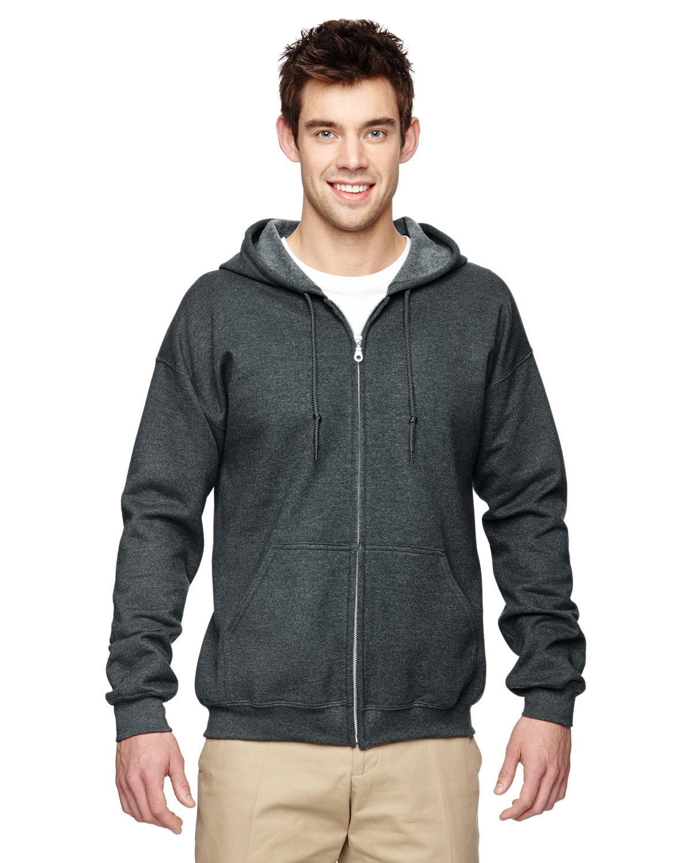 Gildan Adult Heavy Blend™ 50/50 Full-Zip Hooded Sweatshirt DARK HEATHER