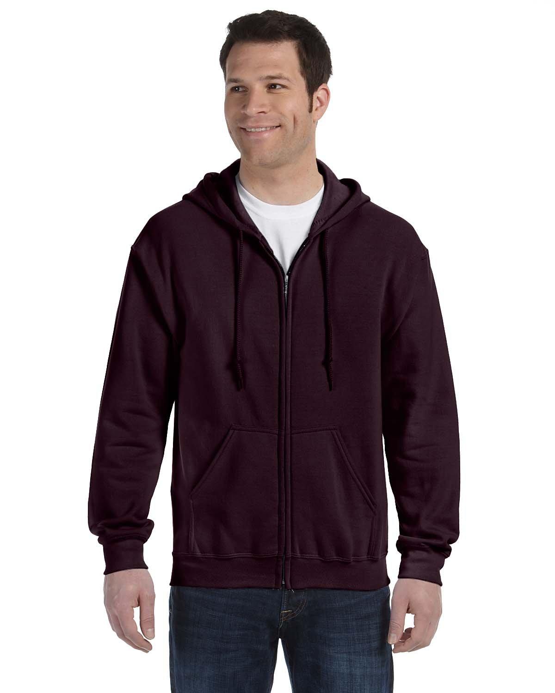 Gildan Adult Heavy Blend™ 50/50 Full-Zip Hooded Sweatshirt DARK CHOCOLATE