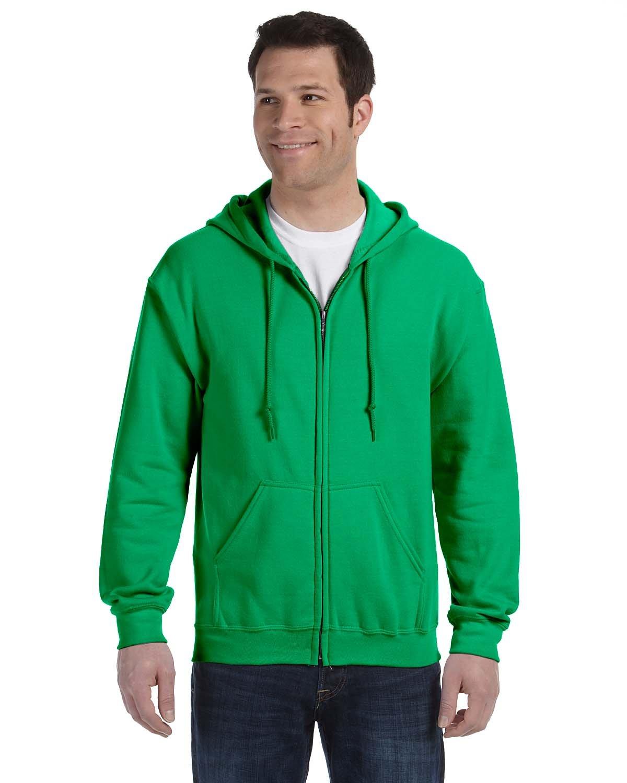 Gildan Adult Heavy Blend™ 50/50 Full-Zip Hooded Sweatshirt IRISH GREEN