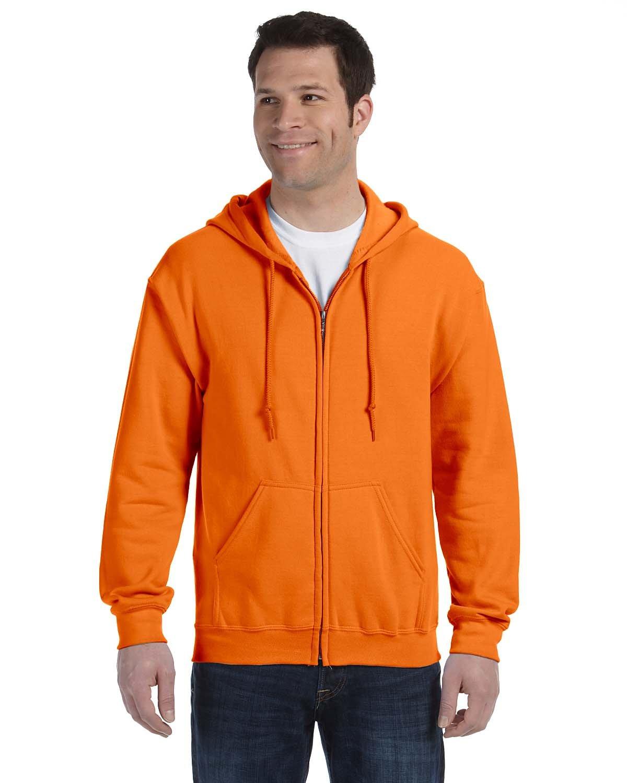 Gildan Adult Heavy Blend™ 50/50 Full-Zip Hooded Sweatshirt S ORANGE