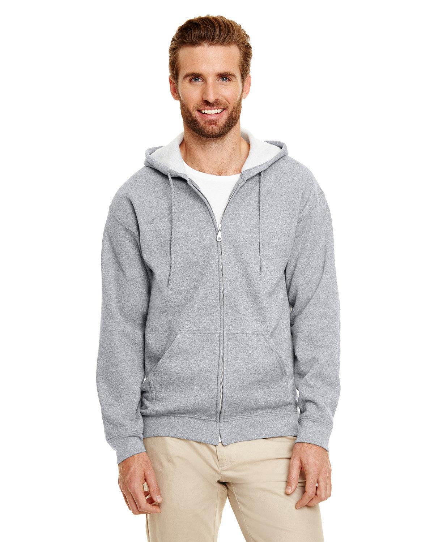 Gildan Adult Heavy Blend™ 50/50 Full-Zip Hooded Sweatshirt GRAPHITE HEATHER
