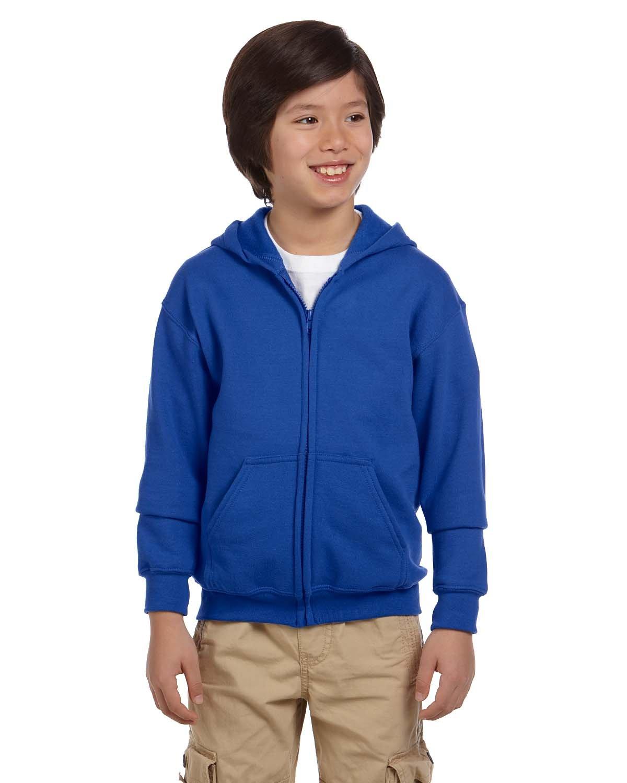 Gildan Youth Heavy Blend™ 50/50 Full-Zip Hooded Sweatshirt ROYAL