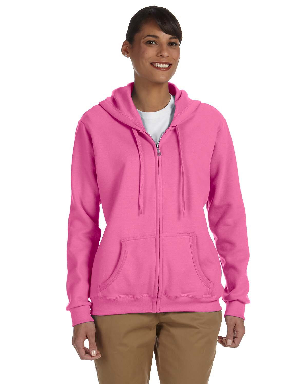 Gildan Ladies' Heavy Blend™ 50/50 Full-Zip Hooded Sweatshirt AZALEA