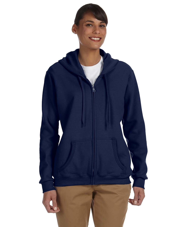 Gildan Ladies' Heavy Blend™ 50/50 Full-Zip Hooded Sweatshirt NAVY
