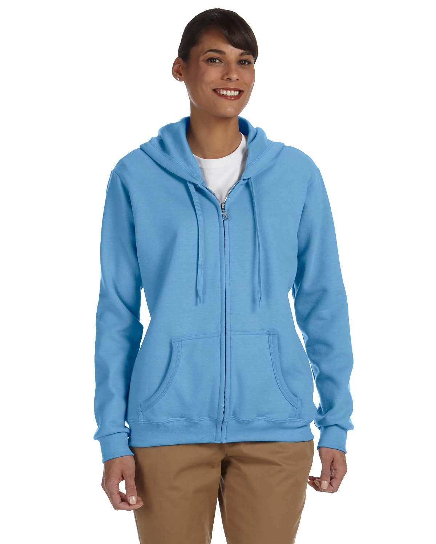 Gildan Ladies' Heavy Blend™ 50/50 Full-Zip Hooded Sweatshirt CAROLINA BLUE