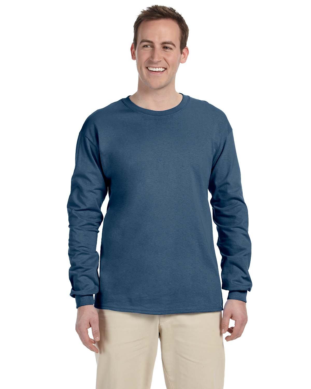 Gildan Adult Ultra Cotton®  Long-Sleeve T-Shirt INDIGO BLUE